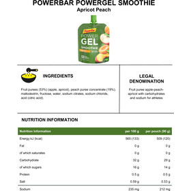PowerBar PowerGel Smoothie Box 16x90g Apricot Peach